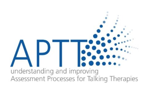 APTT logo - letters spelling out APTT with decorative blue dots to the right
