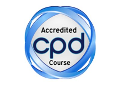 Logo showing accredited CPD course
