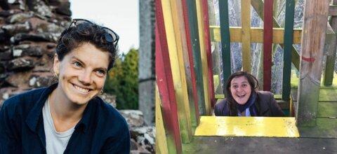 Side by side photos of Dr Charlotte Kühlbrandt and Dr Hannah Cowan