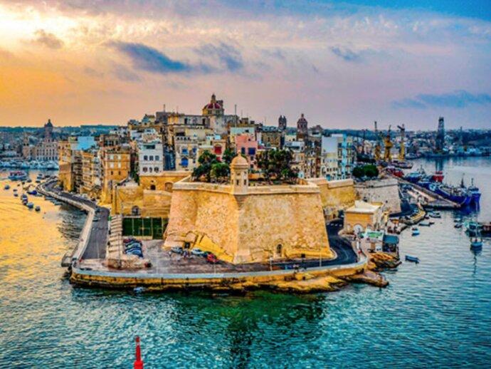 Photo of a castle by the sea in Malta