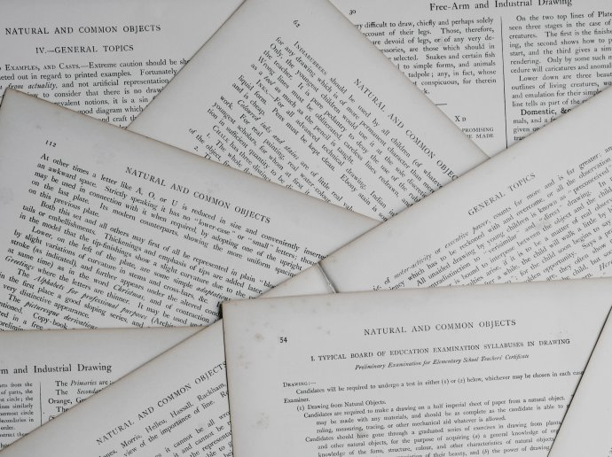 Photo of a pile of journal articles