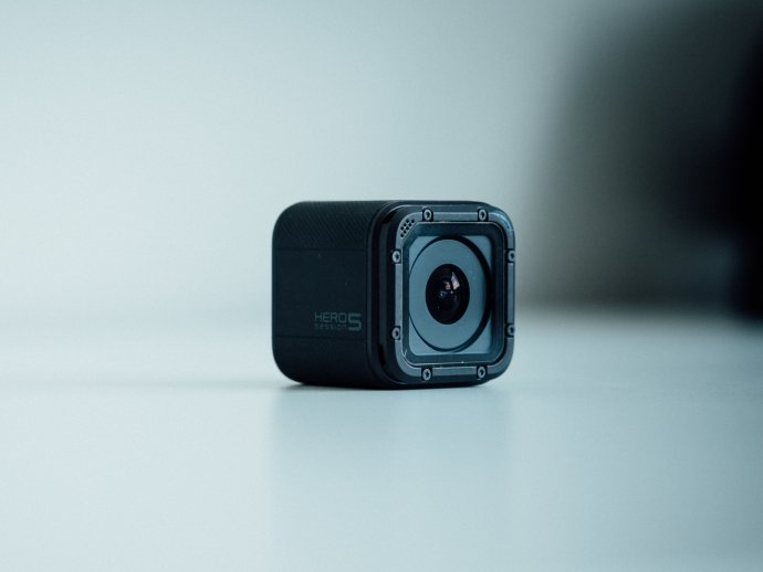 Photo of a small wearable camera