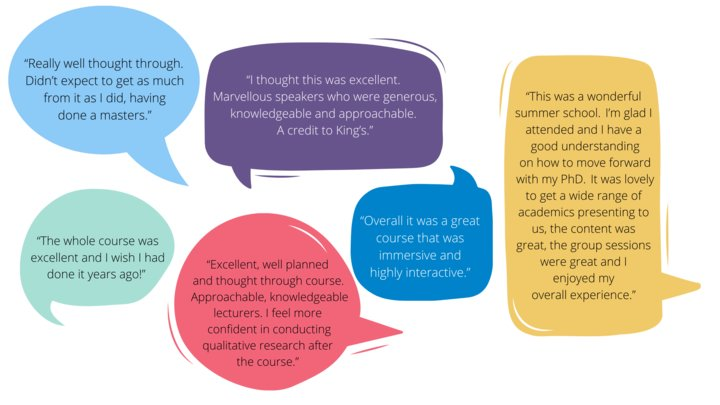 An image featuring testimonials from previous students